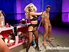 Ashley Fires returns to Divine Bitches with two lucky slaves groveling at her feet. These...