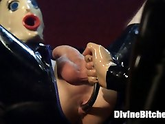 If you have a fetish for wet slippery fetish sex then this week's update is for you! If you don't, you will. Mistress Mona Wales is dripping in wet latex and she is using it against you! Heavy sexual teasing, deep prostate milking with wet metal prostate milking toy, hard strap-on anal sex with gigantic black rubber cock, deep metal sounding, slave fucking and denial!!! Not to be missed.
