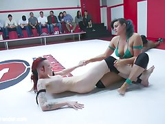 Its Lisas turn to do some bullying in a tag match. Penny and Lisa torment Kajira, trapping her...