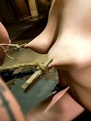 My mind is made up to use this trainee\'s ass all week long. In fact, I am going to only punish that pussy, and reward her gaping asshole. But first, the lessonsI the LaborThe former hogtied set is a mess of stinking hay leftover from some other shoot. Our sweet little slut is assigned the task of cleaning this dump. She has about 20 minutes per day to give the task, and I am up her ass all the way, every day. The guys in the Art Dept. are betting she cannot finish in time. She better.II the ConditioningI tie her down in a painful arch that presents her bad pussy to the camera, and to my crop. I kindly explain to her that the premise of this scene is simple: when I hear what I want to hear out of her yappie little fuck-hole, it gets the vibe. When I do not hear what I want to hear, it gets the crop.III Blowing the GimpThe gimp is always horny, always hungry. Especially for greedy little porn star trainees like this cock slut. I decide to make it more interesting, and tether her pretty tits to a punishing leash. Now she has a choice: take the thick gagging cock deep in her throat, or suffer the torment of those pretty tits getting pulled off.IV Ass SlutI build a simple contraption that fastens our little ass piggy down to the floor like a dog to be fucked. Her ass is pushed up, out and open in a lewd presentation of her goods. Before having her ass stuffed with cock, I decide a vibe blasting her dirty pussy will be more punishment than reward, and turn it on high.This update includes: erotic manual labor, slave training, blonde cock sucker, hot blonde fucked in the ass, nipple leash, nipple torment, predicament bondage, ass plug, slave orgasms