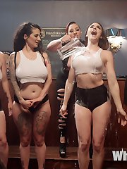 Everyones a winner at the annual wet t-shirt contest and Mistress Karas dyke bar! Buxom beauties...