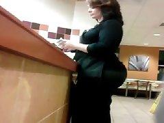 Big ass in restaurant