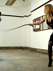 Mistress Aiden has a pain toy to play with. tao subjects himself to the sadistic Mistresses...