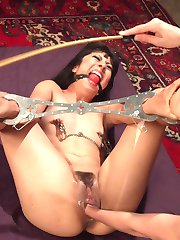 Crawling to the throne of Mona Wales, submissive slut Vivi Marie eagerly awaits servicing her mistress with body worship, pussy and ass licking after a classic OTK spanking. Bondage, caning, flogging, clothespins, zipper, fisting, anal strap-on fucking, and multiple squirting orgasms leave Vivi spent in a puddle of her own pussy juice and Mona sadistically satisfied.