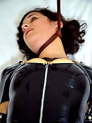 Before Marina gets wet and clean we make sure she feels nice and dirty. Her sexy latex outfit...