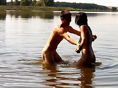 He wanted to go skinny dipping, but his teen girlfriend had an even better idea. They took off...