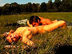 Under the warm sun, this teen cutie gets her tender pussy fucked from behind. He pushes his cock deep inside of her, thrusting deeper into her and making her moan so loud.