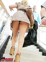Great thong panty upskirt view