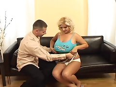 Busty blond gets fucked