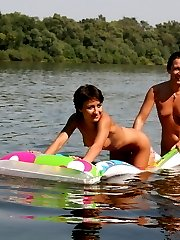 The girls love nothing more than playing on water. Enjoy these frisky babes