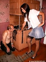 Ass kisser kicked by Mistress