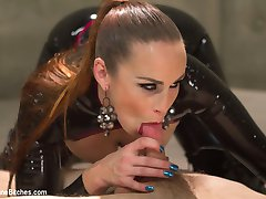 The Divine Bitches have ensnared another unsuspecting slave toy, locking him in their high-tech milking facility - and the seductively terrifying Bella Rossi will stop at nothing to extract the filth coursing deep inside this sub's pathetic balls! Rough strap-on anal, OTK spanking, face-sitting, smothering, relentless humiliation, and denial, denial, denial! Mistress Bella even brings out the pumps, forcing this puny cock to stroke itself off inside a machine, before collecting another vial of disgusting male filth serum. Now poor Sam only has a few hours to recover before his next milking!