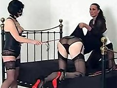 This little sissy superslut gets dressed up by Strapon Jane