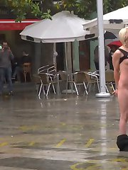 Nora's Been A Naughty Little Bitch - Part 1Nora Barcelona is a sweet, petite Spanish beauty, eager to be put in her slutty place. Silvia Rubi marches her out into a public square and puts her in handcuffs where Noras made to perform like a dog. She trots about in the rain, she's stripped naked, plays fetch, begs for food from strangers, and is ultimately punished with a humiliating public spanking and flogging, all while being photographed and filmed by a steady stream of onlookers.Naughty Little Bitch Gets Her Bone - Part 2Nora Barcelona is brought to a dive bar, fresh from being humiliated by Silvia Rubi in a rainy public square, and finally gets the bone she's been begging for. She's spanked, shocked and paddled in front of a rowdy crowd until her ass is beet-red and white-hot, then she's handed over to a bar patron and fucked in front of everyone. Once Nora's been fully humiliated, she's led outside wearing nothing but shoes, and walks naked through the city streets.