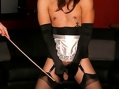 Sexy Mistress Anastasia Pierce dominates her male submissive and trains him to be a good slave