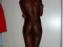 Hot ass black chick strips and gets fucked