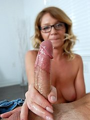 Finer Cum Fast - MILF and Mature Handjob Videos Over 40 Handjobs