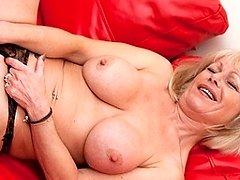 Naughty British mom toying with herself