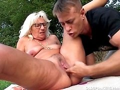 Granny fanny licked and fingered