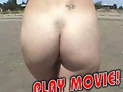 Ash-blonde hot nudist gone wild
