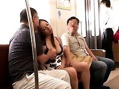 Japanese AV Model sleeps in subway trip and PublicSexJapan.com