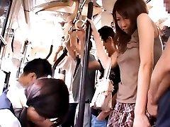 Maki Mizusawa Asian is fondled on ass and PublicSexJapan.com
