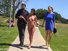 Part 1 - The Filthy Fully Naked Street Pet.Alexa Tomas is a perfect, perky, gorgeous, Spanish, goddess that get's put into her filthy slut pet place! Tina Kay is back with another beautiful model for Steve to play with. This time Steve gets a deep throat sloppy blow job at a public beach! He then strips his new pet fully nude and barefoot to walk around the dirty filthy streets of the Barcelona back alleys. He even makes Alexa crawl around on her hands and knees like a dog in heat! Woof Woof!Part 2 - Slutty Pet Begs for a Bone!!Alexa Tomas gets dragged into a crowded pet store and stuffed into a dog kennel along with leash and collar! She is then made to beg for a bone! Steve Holmes is happy to serve her a sausage though! This slutty pet knows how to serve her masters and take all they give her. Deep blowjobs, hard fucking on a pile of dog food, lesbian strap-on and pussy licking, corporal punishment and dog bowl full of cum!