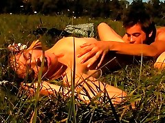 Under the warm sun, this teen cutie gets her gentle pussy nailed from behind. He thrusts his pecker deep inside of her, thrusting deeper into her and making her groan so noisy.