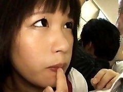 Japanese AV Model in uniform gets cum from PublicSexJapan.com