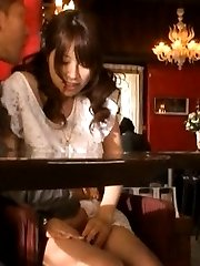 Riku Yamaguchi Asian has pussy touched under PublicSexJapan.com