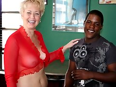 Tracy gets to take a test ride on one of Double Dee's favorite big black dicks!