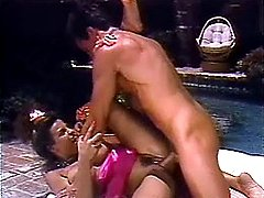 Retro couple fuck outdoors