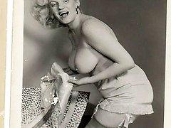 Vintage light-haired naked women