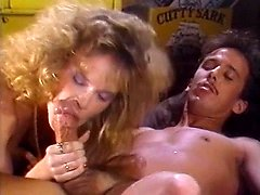 Debbie Areola, Erica Boyer, Nina Hartley in old school porn sequence