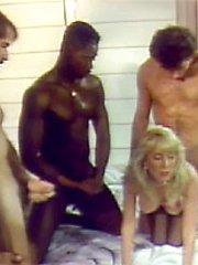 Seventies gangbang action