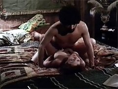 Older retro couple having sex