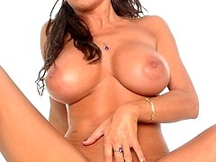 Teri Weigel unclothes showing her good-sized tits