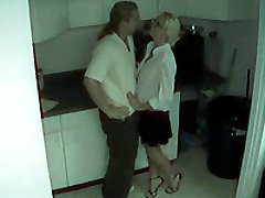 The security camera watches this professional pair fuck