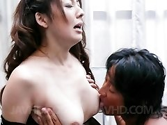 Ruhime Maiori Asian is fingered in vulva through crotchless