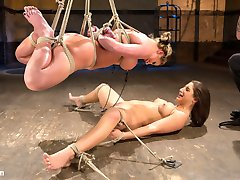 What happens when you take a seasoned bondage model and pair her up with a new school starlet? You get one of the hottest bondage shoots of all time. You have the bombshell vixen known as Phoenix Marie helpless in tight rope bondage, and sexy young Abella Danger suffering like she loves to do. Phoenix is used to hurt Abella and to pleasure her. Abella gets totally destroyed with a mix of sadistic torment from The Pope and good old fashion bitting from Phoenix