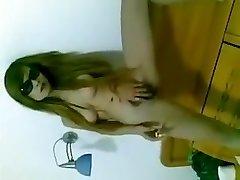 Chinese dame pussy smoking