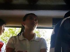 Boso sa jeep. HRM student...SARAP ng milky panty mo miss!