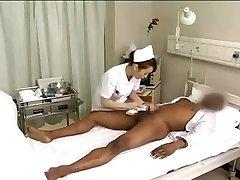 Asiatiska sjuksköterskor avlopp black cock
