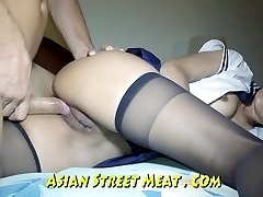 Backside Fucked haning On Asian Balcony