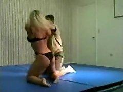 mingled wrestling fbb Christine Fetzer bodybuilder scissors part 2