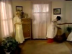 Obscene mistress seduces maid and makes her lick cunt