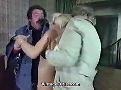 Salope Blonde Humiliée Vraiment Dur (années 1970 Vintage)