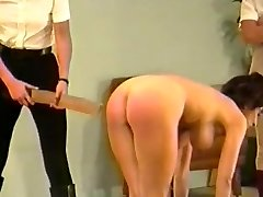 2 dommes spank & cord busty girl (Part 3)