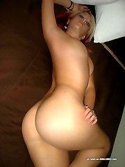 Tattooed scene hottie stripping naked