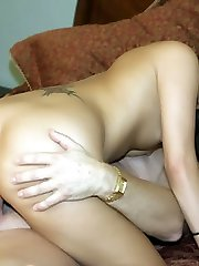 Horny amateur Autummn Skyes expertly sucks a bone and got her clean-shaven cooter plowed in this porn video